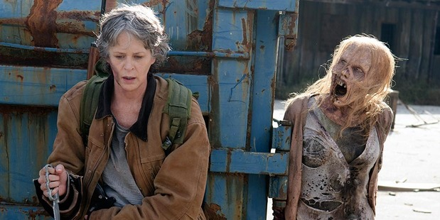 A scene from the season finale of The Walking Dead. Photo / AMC