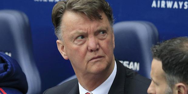 United's manager Louis van Gaal. Photo/ AP