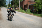 Actor Norman Reedus in a scene from the hit television series 'The Walking Dead' - filmed in Georgia. Photo / AMC