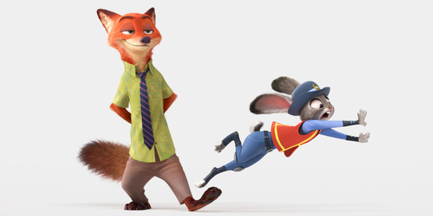 In the film, a rookie bunny cop and a cynical con artist fox must work together to uncover a conspiracy. Photo supplied / Disney