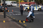 Police at the scene of a serious assault early this morning on St George Street Papatoetoe. Photo / Brett Phibbs