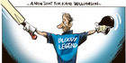 View: Cartoon: Kane Williamson a bloody legend
