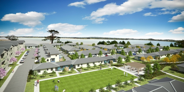 Loading Summerset boss Julian Cook says people aren't buying in the Hobsonville village, above, just for financial reasons.