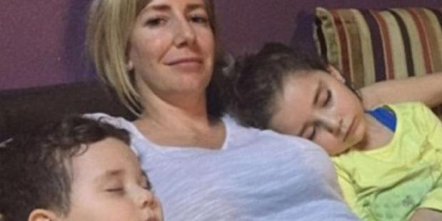 Sally Faulkner with her children. She was arrested for trying to kidnap them.