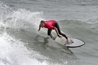 SURF KING: Ben Englebretsen competing at the Wanganui Board Riders competition on Saturday. PHOTO/BEVAN CONLEY