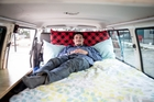 Adrian Sharp has enjoyed the chance to hear directly from people who have rented his customised campervan. Photo / Michael Craig
