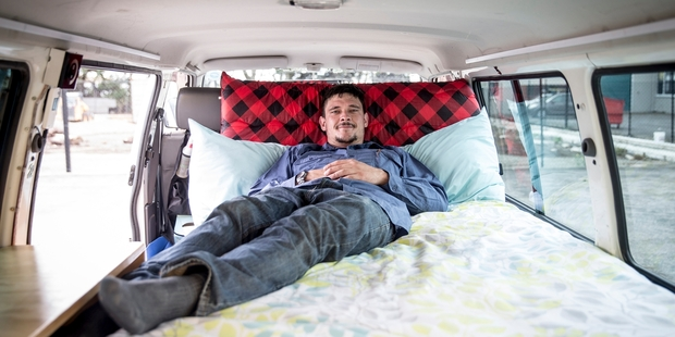 Loading Adrian Sharp has enjoyed the chance to hear directly from people who have rented his customised campervan. Photo / Michael Craig