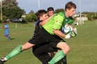 Tauranga City United goalkeeper Tom Pamment had a superb game against Western Springs in Auckland on Saturday, saving a penalty to give his side a share of the points.
