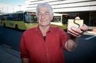 Ivan Schultz uses the free off-peak bus services when he visits his daughter in Tauranga. Photo / Andrew Warner