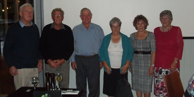 60 years on, the group of Colin, Lyle, Trevor, Betty, Joan and Fay came together again to celebrate the milestone at Off the Track restaurant.