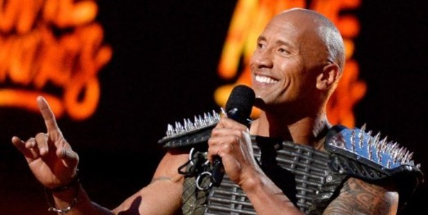 Co-host Dwayne 'The Rock' Johnson speaks onstage during the 2016 MTV Movie Awards. Photo / AFP