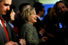 Democratic presidential candidate Hillary Clinton at the Pennsylvania AFL-CIO Convention in Philadelphia. Photo / AP