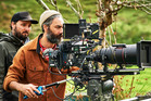 The Hunt for the Wilderpeople director Taika Waititi during production.
