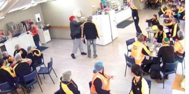 The incident happened in the staff cafeteria of the Turners and Growers pack house in Whakatu, near Hastings, on July 25 last year. Photo / Supplied