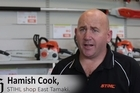 Stihl franchise owner Hamish Cook says commercial or business burglaries are just as traumatic as home break-ins.