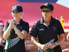 Selina Goddard of New Zealand and Val Smith during the Commonwealth Games. Photo / Getty Images