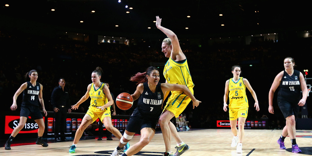 Jordan Hunter of the Tall Ferns drives to the basket. Photo / Getty Images