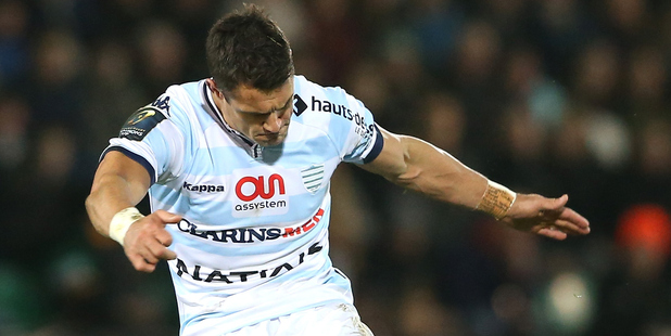 Dan Carter kicked Racing into the Champions Cup semi-finals by knocking out reigning champions Toulon in the quarter-finals. Photo / Getty Images