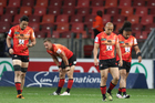 Dejected Sunwolves players. Photo / Getty
