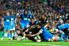 Brodie Retallick crossed for a match-sealing try late in the Chiefs' win over the Blues. Photo / Getty