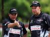 Ali Forsyth and Tony Grantham talk tactics during the New Zealand Bowls Open. Photo / Getty Images