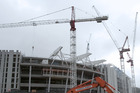 Fletcher Construction operates a building site at Auckland's Eden Park Stadium in 2009. Photo / Getty Images