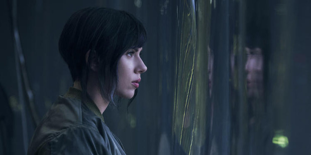 Scarlett Johansson takes on the role of cyborg, Major Kusanagi, in the film Ghost in the Shell. Photo / Paramount