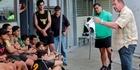 All Blacks coach Steve Hansen in Wairoa.