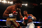 Anthony Joshua of England and Charles Martin of the United States in action during the IBF World Heavyweight title fight. Photo / Getty Images.