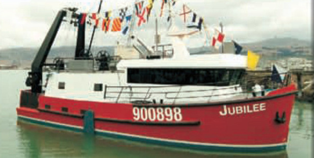Two ships will be used for the recovery of the fishing trawler Jubilee. Photo / Supplied