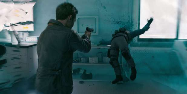 The animated version of Shawn Ashmore in action in Quantum Break.