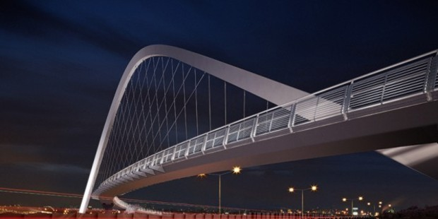 Loading An artist's impression of Hendon footbridge. Photo / NZTA
