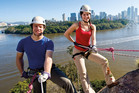 Abseiling at Kangaroo Pt, in Brisbane. Photo / Tourism and Events Queensland