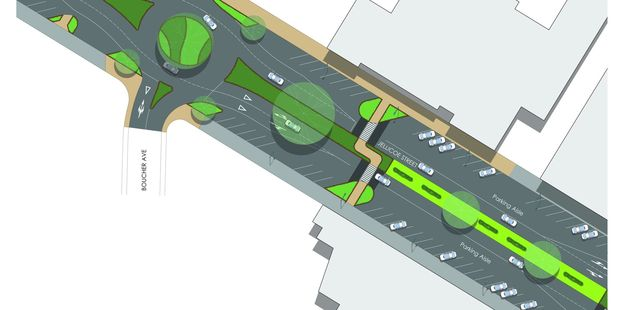 The design of planned improvements to Te Puke's main street. Image/Supplied
