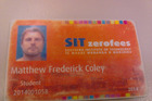 Matthew Frederick Coley's student card from the Southern Institute of Technology. Photo / Facebook