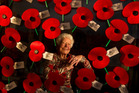 Rita O'Brien will be selling poppies for the last time today. PHOTO/STEPHEN PARKER