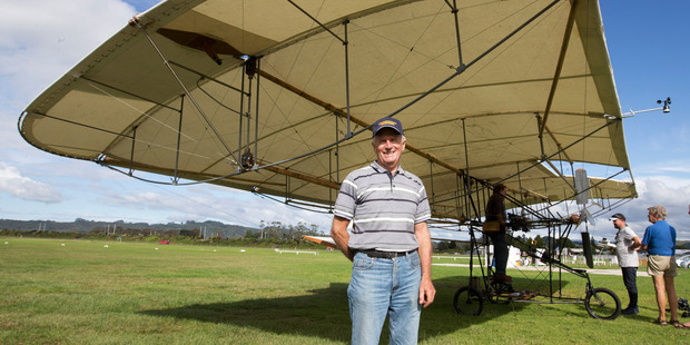 Test pilot Neville Hay pictured at Whitianga Airfield. Photo / Alan Gibson