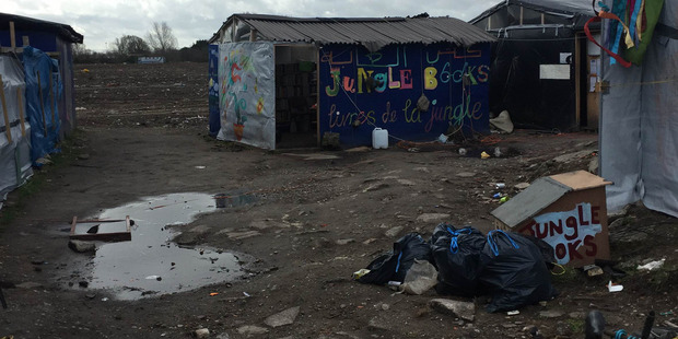The remnants of the 'Jungle' refugee camp in Calais, France. Photo / Supplied