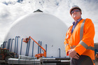 Derek Williams says dispensing cement from the new domes will be quite a simple process. Photo / Nick Reed
