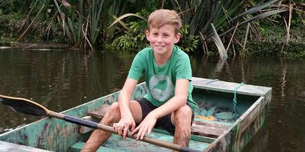 Sandy Muir of Waiuku enjoys a Tom Sawyer-type adventure on the Waikato Delta.