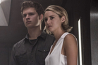 Tris (Shailene Woodley) and Ansel Elgort as Tri's brother Caleb/ Photo / AP