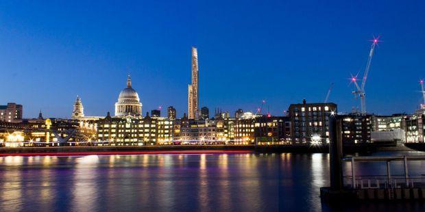 Conceptual image of the timber skyscraper in London. Photo / University of Cambridge