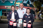 Yvonne Ryan, Russell Williams and Kasey Comber collect for the Poppy appeal. Photo/Ruth Keber