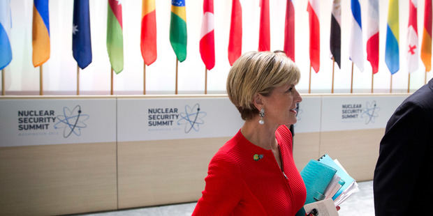Australian Foreign Minister Julie Bishop. Photo / AP