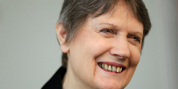 Helen Clark, the former Prime Minister of New Zealand and senior United Nations official, speaks during an interview in New York. Photo / AP