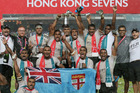 The All Blacks Sevens gave it their all but Fiji were fully deserving champions for the 16th time in Hong Kong. Photo / AP