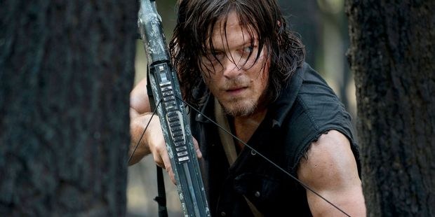 Norman Reedus as Darrylin Walking Dead.