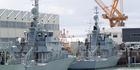 Navy Inshore Patrol Ships, HMNZS Pukaki (left) and HMNZS Hawea in dock at the Devonport Navy Base. Photo / Richard Robinson