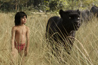 Mowgli (newcomer Neel Sethi) and Bagheera (voice of Ben Kingsley) embark on a captivating journey in The Jungle Book. Photo / Supplied