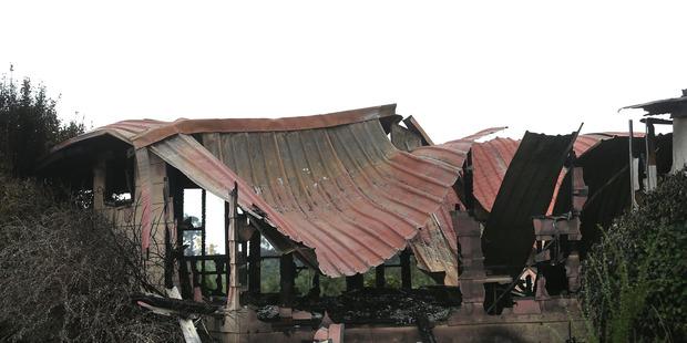 A fire completely destroyed a house in McMeeking Rd, Rangiuru, near Te Puke. File/Photo